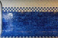 Checkered Blue Ceramic Tiles