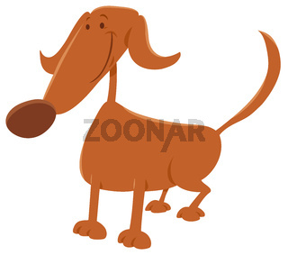 funny dog cartoon character