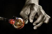 Work of Glass Blower