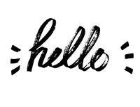 Hello - Modern calligraphy