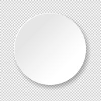 White Banner Ball Isolated Transparent Background
