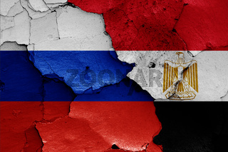 flags of Russia and Egypt