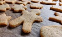 closeup baked cookies