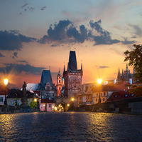 Street lights on Charles Bridge