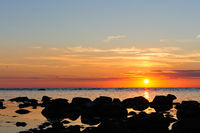 Sonnenuntergang auf Gotland
