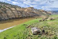 old homestead on a shore of Colorado River