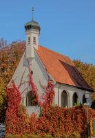 Kapelle neben der Kirche St. Blasius, Weiler-Simmerberg, Allgaeu,