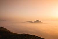 Misty morning in Central Bohemian Highlands, Czech Republic