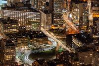 New York midtown aerial