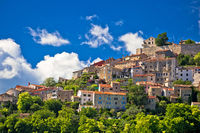 Town of Motovun on picturesque hill view