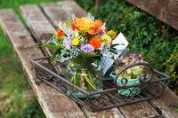 Farbenfroher Blumenstrauß