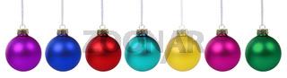 Weihnachten Weihnachtskugeln Banner Farben Weihnachts Kugeln Deko Dekoration Freisteller