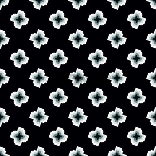 Seamless Black and White Pattern from Rectangle Intersections