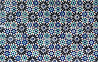 Pattern of geometrical wall tiles in Lisbon Portugal