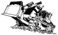 Black and White Bulldozer