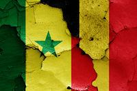 flags of Senegal and Belgium