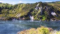 volcanic lake at waimangu