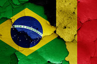 flags of Brazil and Belgium
