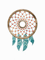 dream catcher watercolor painting