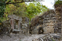 Old ruins of brazilian stone farm house built by slaves