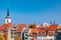 View of the historical city centre of Erfurt, Germany