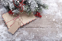 Christmas envelopes and decorations
