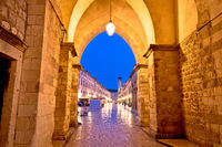 Stradun view from Ploce gate in Dubrovnik