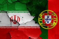 flags of Iran and Portugal