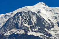 Mont Blanc Gipfel, Saint-Gervais-les-Bains, Hochsavoyen, Frankreich