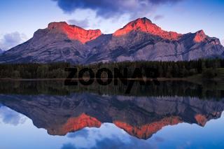 Sunrise at Wedge Pond, Kananaskis, Alberta, Canada
