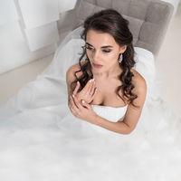 Beautiful bride sitting on chair