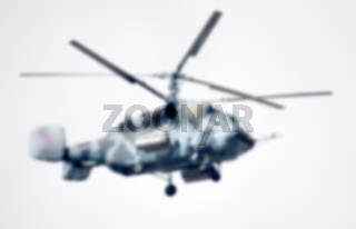 military helicopter in the air