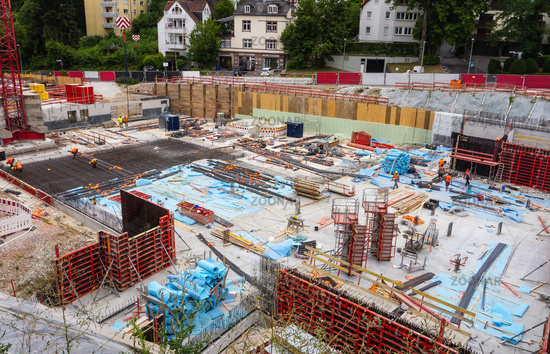 Baustelle in Kronberg