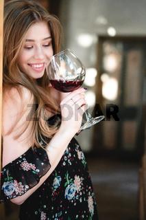 Young girl posing at the camera