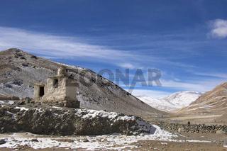 Village entrance near Puga hot water springs, Ladakh