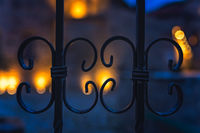 Detail of the wrought iron fence