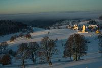 Winterurlaub und Wandern in Lenzkirch im Schwarzwald bei Schnee