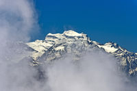 Wolkenspiel am Grand Combin Massiv, Walliser Alpen, Bourg-Saint-Pierre, Wallis, Schweiz