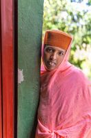 Portrait of Orthodox noon Ethiopia Africa