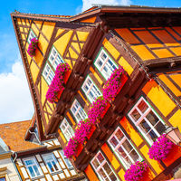 Half-timbered old house in Quedlinburg