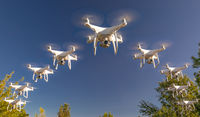 Formation of Drones Swarm in the Blue Sky