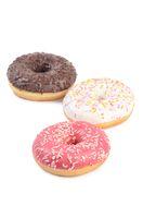 Fresh donut with sugar glaze closeup