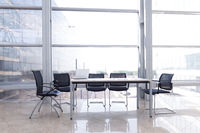 Empty table at modern office