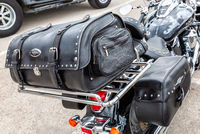 Leather motorcycle bag for luggage