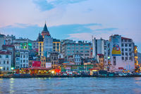 Istanbul in the evening