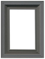 Grey Metallic Picture Frame Cutout