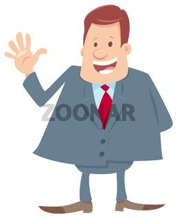 happy boss cartoon character illustration