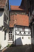 Minden - Gasse in der oberen Altstadt, Deutschland