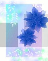 Flowers in pastel colors in vintage style.