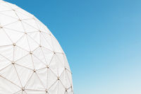 tower of old radar station - dome / radome on listening station -